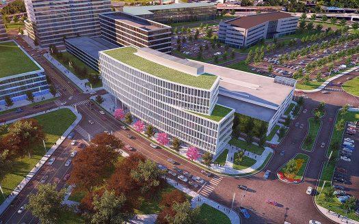 Development around the site of Subaru of America in Camden