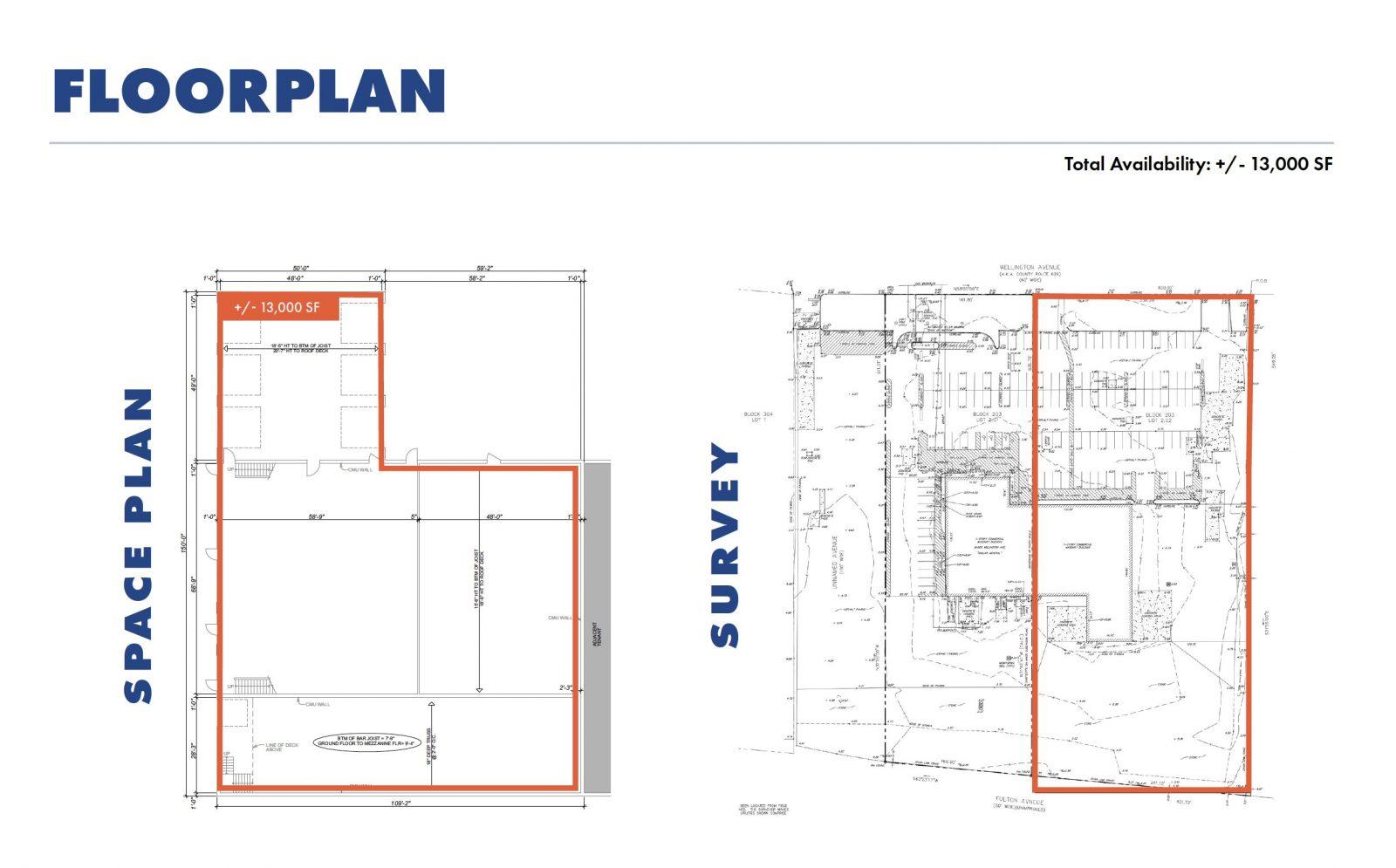 Space Plan & Survey